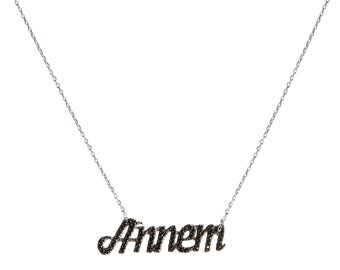 Sterling silver My Mom necklace ZB4145