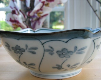 Vintage Chinese Blue and White China Bowl