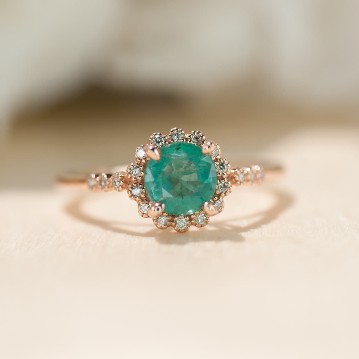 Emerald Engagement Rings: Emerald Engagement Ring Emerald Ring Rose Gold Ring By