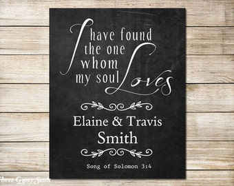PRINTABLE Art I Have Found The One Whom My Soul Loves Song Of Solomon 3:4 Wedding Ceremony Sign Decor