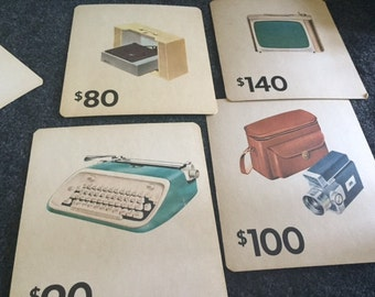 Vintage mid-century game or flash cards