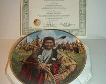 1992 Franklin Mint Chief Joseph Man of Peace Plate w/ COA