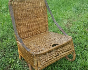 Wicker Chair Etsy