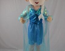 Frozen Queen Elsa Mascot Costume Fluffy Plush Costume Parade Costume Birthday Costume