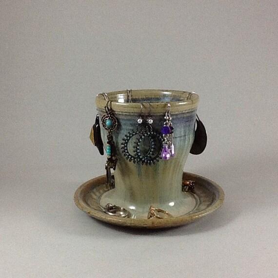 items similar to jewelry holder earring holder stoneware