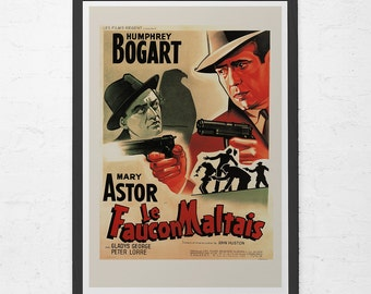 CLASSIC MOVIE POSTER -  The Maltese Falcon Film Poster -  Humphrey Bogart Movie Poster, Classic Film Poster, Art Film Poster