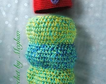 Hungry Caterpillar, Newborn, Photo Prop, Handmade, Crochet