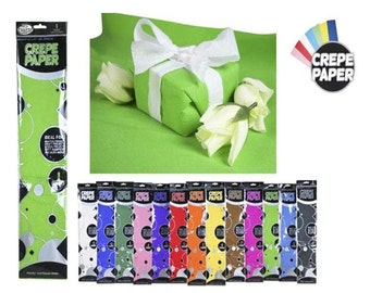Lime Green - Crepe Paper 1 Sheets 50x200cm Premium Quality 40% Stretch, CR369