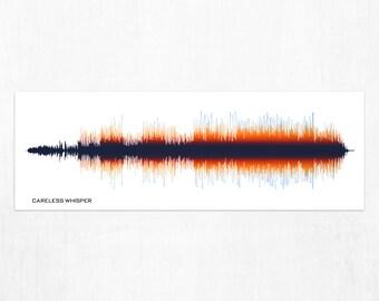 Careless Whisper by George Michael - Soundwave Art Print