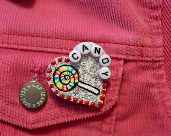 Heart Shaped Candy Pin