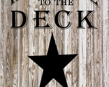 Welcome To the Deck Eat Drink Be Lazy Canvas Banner - Christmas Gift, Mother's Day, Father's Day, Garden Flag, Birthday, Housewarming,