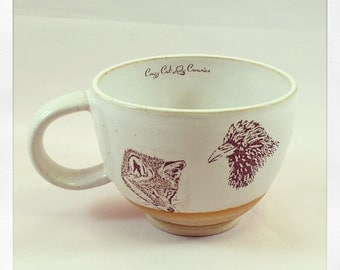 The Raven & the Fox- latte cup
