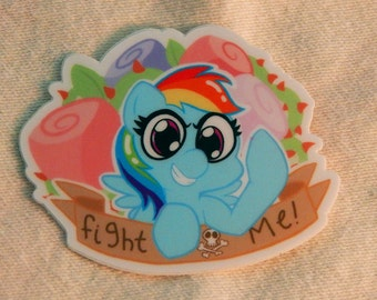Rude Pony Sticker: Rainbow Dash
