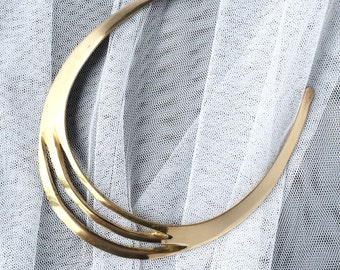 Collar Necklace, Gold Collar Necklace, Bridal Necklace, Gold Necklace, Vintage Necklace, Vintage Collar Necklace, Bridal Jewelry Vintage