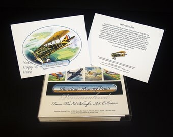 1917 SPAD XIII, WWI airplane, Personalized note card, with history on back of card, great gift for pilots and plane lovers
