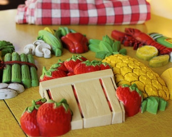 4 Kitchen Wall Plaques, Fruit And Vegetables Wall Plaques, Plastic Kitchen  Plaques For Your