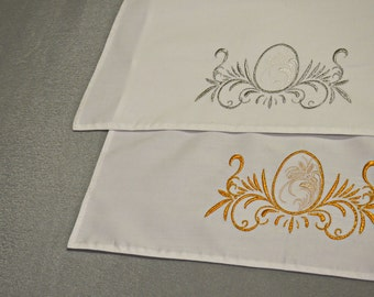 Easter Embroidered Napkins, easter decorations, easter gift, easter eggs, coasters  spring napkins napkin cloths easter table