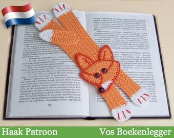 011NLY Vos Boekenlegger - Amigurumi Haak Patroon - PDF file by Zabelina Etsy