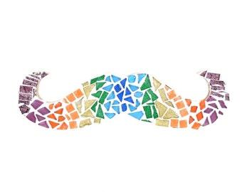 Mustache Mosaic - Wall Art