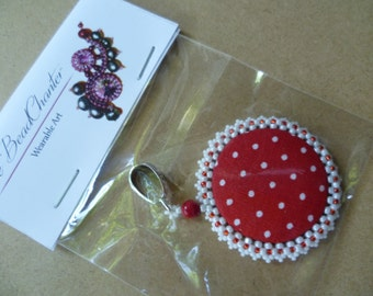 Red and White Polka Dot pendant