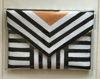 Hand Painted Contemporary Clutch