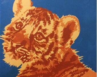 Tiger Cub Original Painting