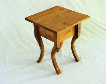 Customizable Cottage End Table Decorative Legs