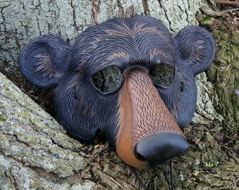 Leather Black Bear Mask