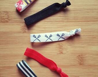 Lax tie set/maryland lax/ maryland theme ties/ maryland lacrosse