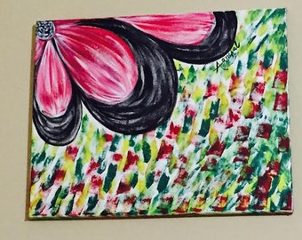 Flower Canvas Painting (Acrylic Painting)