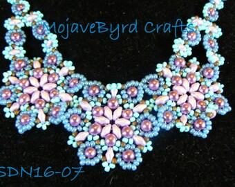 Three Medallion Handbeaded Necklace