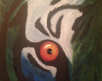 Forest Stalker*Tiger eye painting*Acrylic on canvas