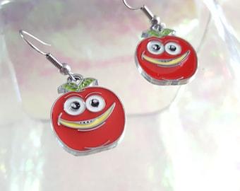 Apple earrings.