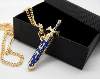 Ledend of Zelda Necklace - link's sword - master sword - jewelry necklace gift - triforce