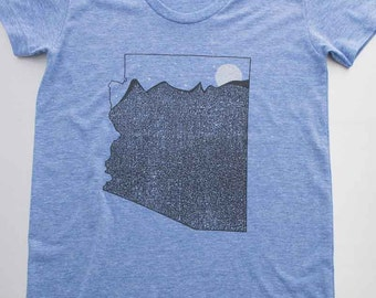 the Grand Canyon state, art design printed on super soft and supple american apparel tri blend. free shipping in the USA. elevate the day!