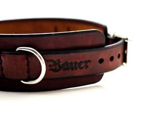 BDSM Leather Collar - Bondage Collar - Slave Collar - Submission