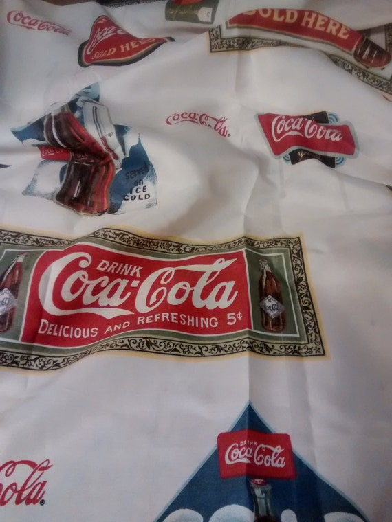 Vintage Official Coca Cola Shower Curtain 100 Polyester