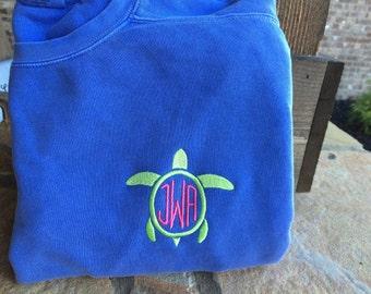 Comfort Colors Monogram Sweatshirt for Women (unisex fit)