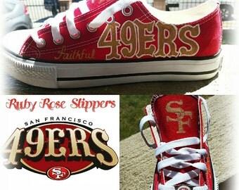 Faithful Faye 49er fan shoes sz 6w