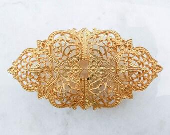 Vintage Dotty Smith Ornate Gold Toned Belt Buckle