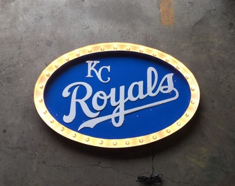 KC ROYALS Logo Replica metal letter marquee light buld and LED back lighting
