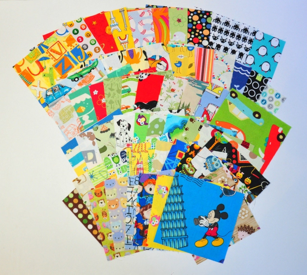 Destash charm pack i spy novelty fabric children kids bright for Kids novelty fabric