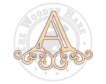 Monogram Letters - Scroll Monogram - Wooden Letters - Wall Letters - Monogram Wall Art - Letter Art - Nursery Monogram - 210171