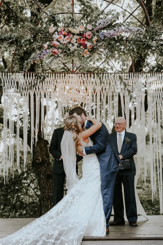wedding ideas for small groups large macrame wedding backdrop for decor at indoor or outdoor 28165