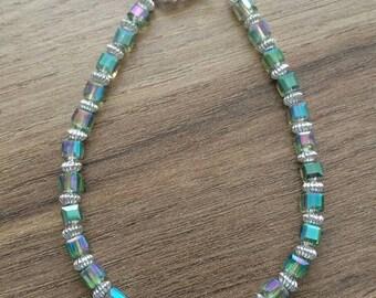 Iridescent swarovski bracelet