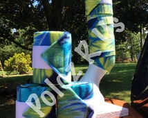 Tropical Palm Leaves polo wraps (4 horse sized)