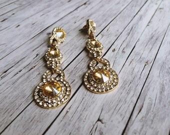 Earrings bridal - Gold Bond