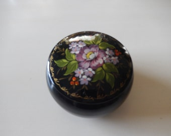 HAND PAINTED JAR with Lid