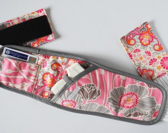 Boob Buddy Holster - Pink Poppies and Paisley