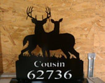 Custom Deer Mailbox Topper